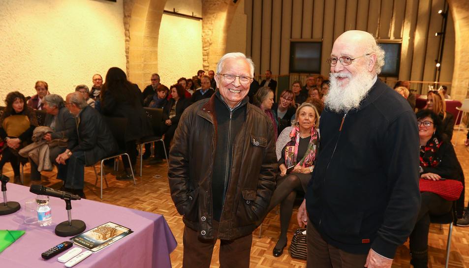 Els conferenciants Joan Foguet i Joaquim Camps.