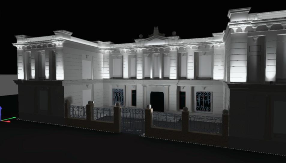 Una recreació de l'aspecte que tindrà la façana un cop culminin les obres.