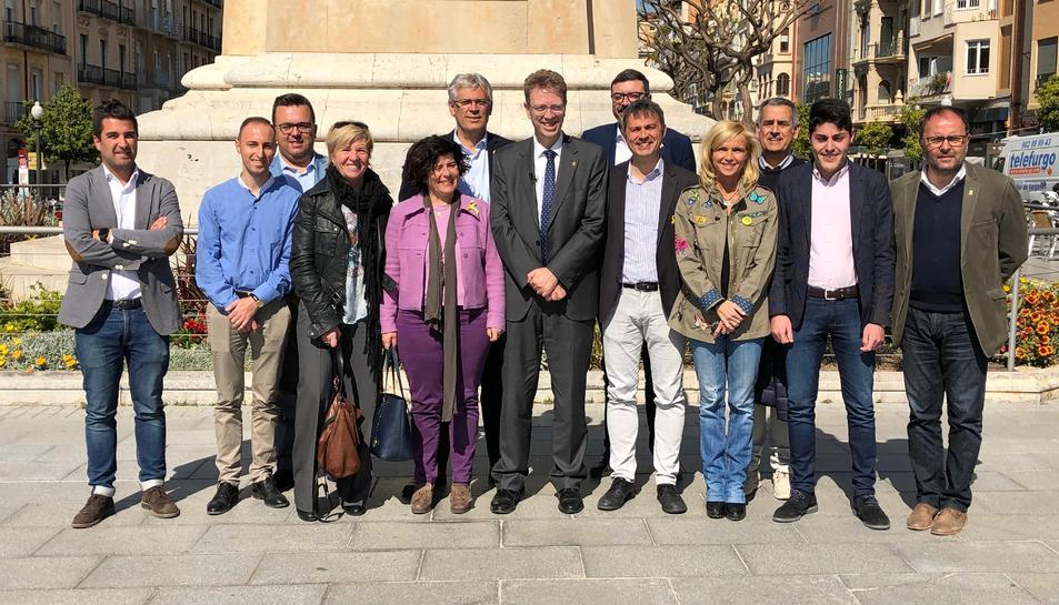 Membres de la candidatura de Junts per Catalunya.