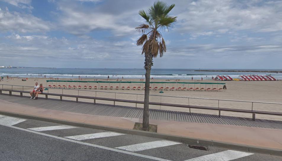 Imatge de la platja de la Pineda.