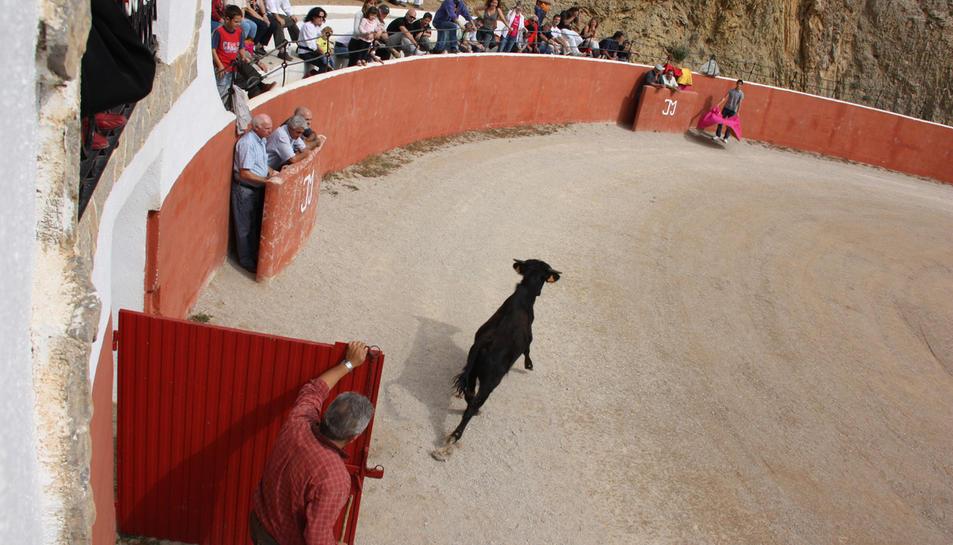 Capea celebrada a la ramaderia Mur d'Alfara de Carles amb el torero Serafin Marín l'any 2010.