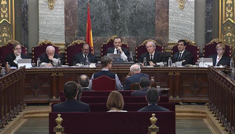 Imatge d'un moment de la sessió de dimecres del judici de l'1-O