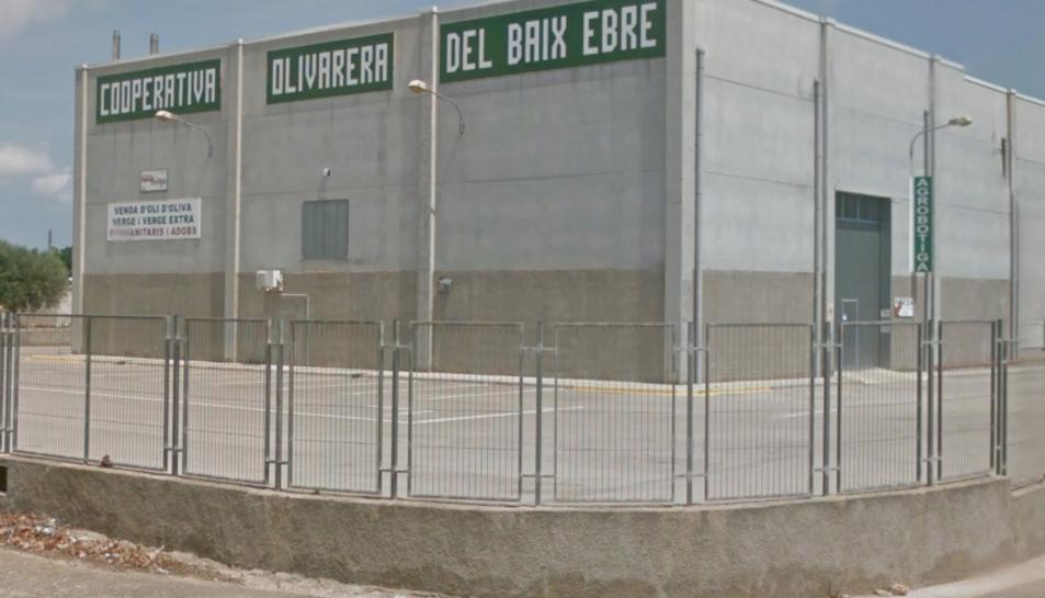 Imatge de la Cooperativa Olivarera del Baix Ebre a Camarles.