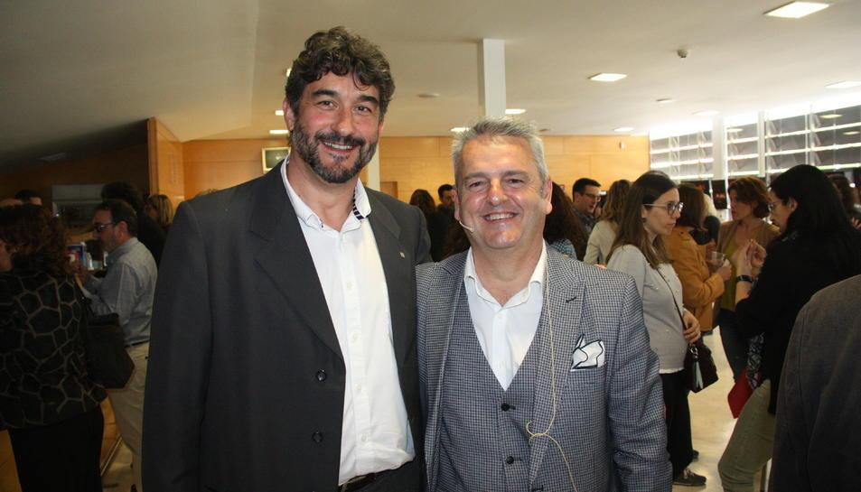 El gerent de la Regió, Ramon Descarrega, amb el responsable de l'àmbit de planificació, Xabier Ansa.