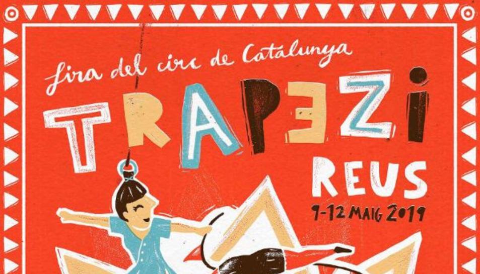 Cartell de la 23a edició de Trapezi, la Fira del Circ de Catalunya, obra de l'il·lustrador Jan Barceló.