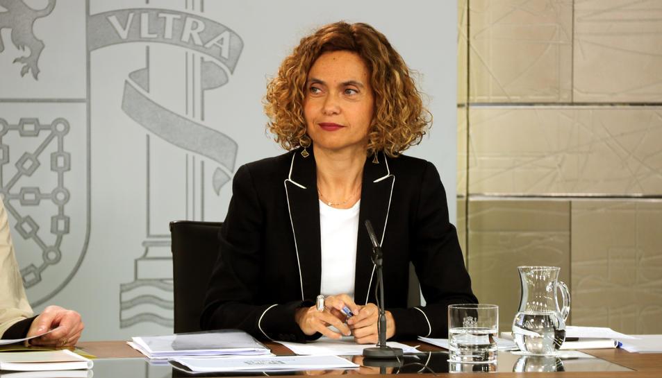 La ministra de Política Territorial i Funció Pública, Meritxell Batet, a la roda de premsa posterior al Consell de Ministres.