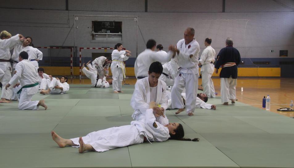 Imatge d'una exhibició de Nihon Tai Jitsu a Martorell.
