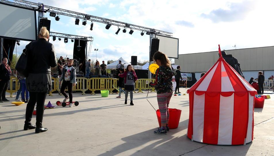 Imatge de les activitats infantils organitzades en la festa.
