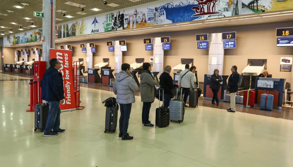 El vol de l'Imserso a Menorca va ser l'únic que es va operar ahir a les instal·lacions reusenques.
