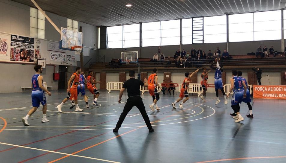 Imatge del partit de dissabte disputat a Mataró.