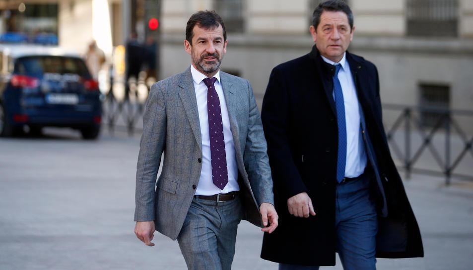El comissari en cap dels Mossos d'Esquadra, Ferran López, arriba a l'Audiència Nacional, el 23 de febrer de 2018.