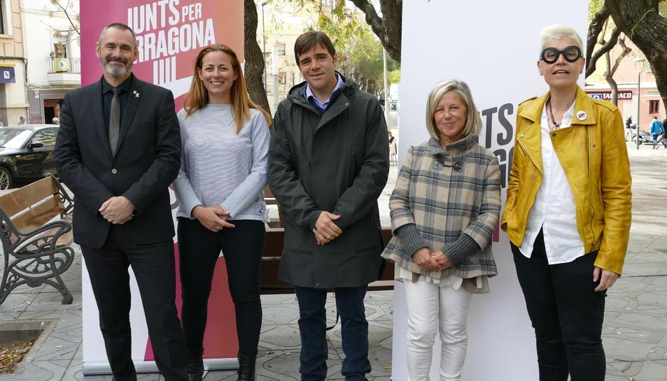 Els cinc primers candidats de la llista de Junts per Tarragona.