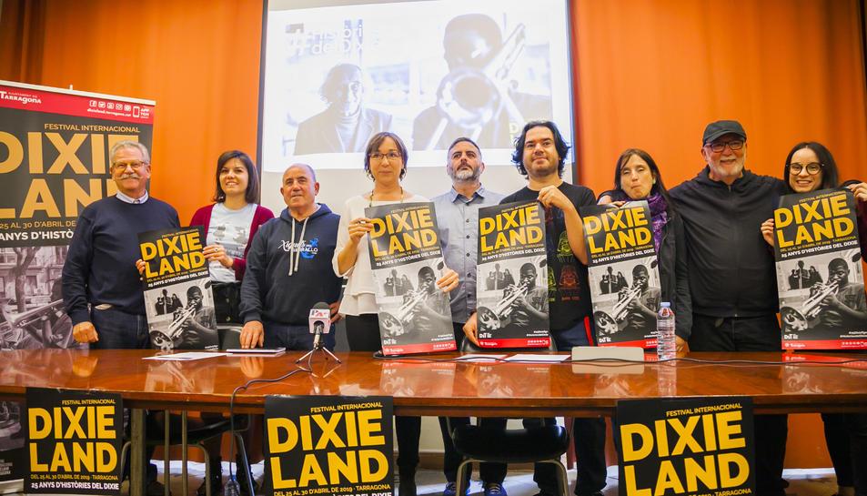 Els integrants de l'equip que impulsa el Festival Internacional de Dixieland de Tarragona.