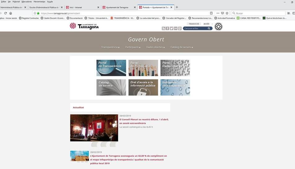 Imatge del portal Govern Obert.