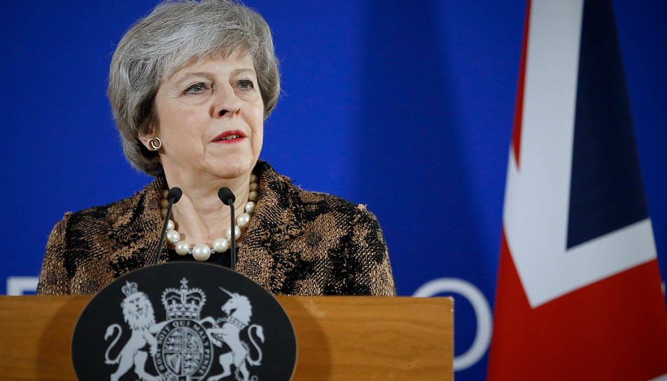 La primera ministra britànica Theresa May, en una imatge d'arxiu.