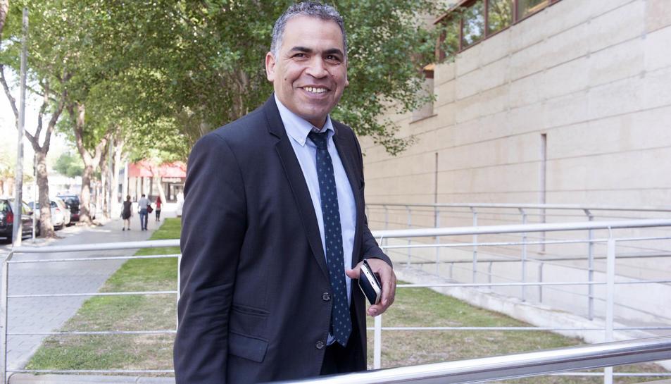 Hilal Tarkou, en una imatge d'arxiu, als jutjats de Reus.