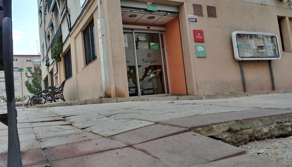 Aspecte del carrer al Bloc Sant Tomàs de Sant Pere i Sant Pau.