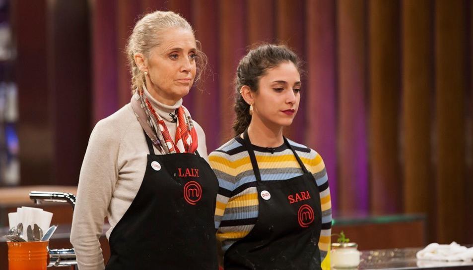 Laly i Sara Muñoz, abans de la decisió final del jurat.