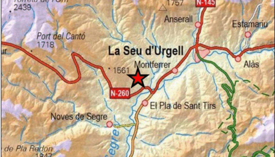 L'epicentre ha estat Ribera d'Urgellet, a l'Alt Urgell.