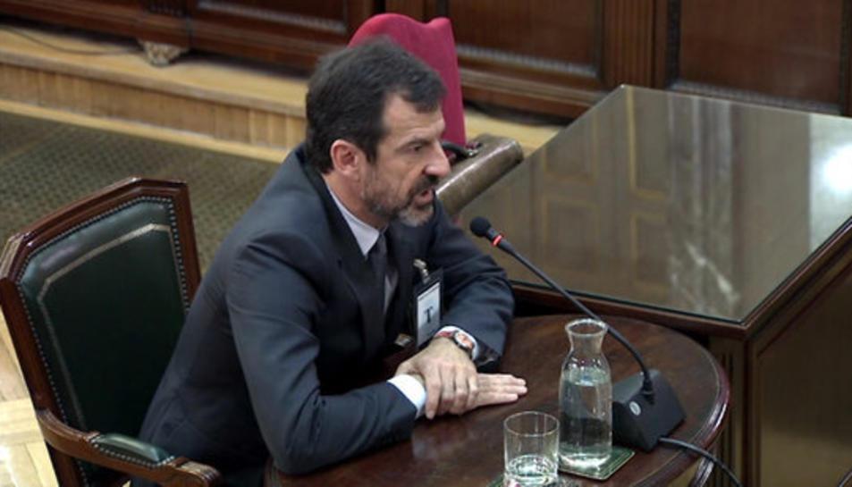 Imatge del comissari Ferran López declarant com a testimoni al Tribunal Suprem.