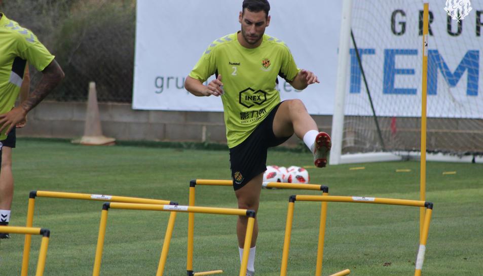Iván López, durant un entrenament a principis de temporada, quan estava disponible per a jugar.