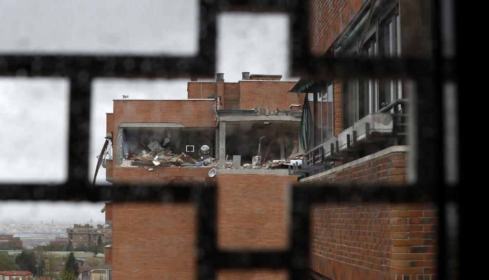 Imatge de l'edifici després de l'explosió.