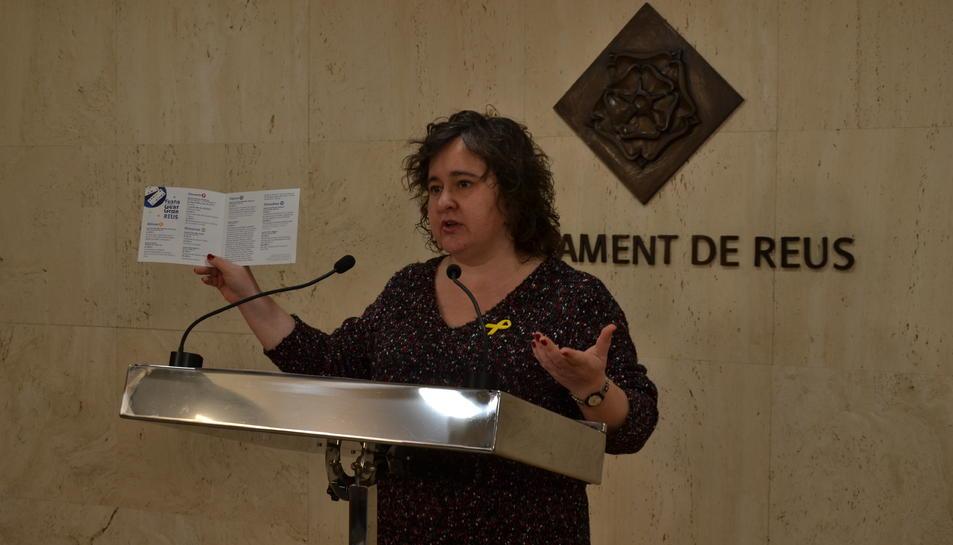 Imatge de la presentació de la Festa de la Gent Gran 2019 a càrrec de la regidora de Participació, Ciutadania i Transparència.