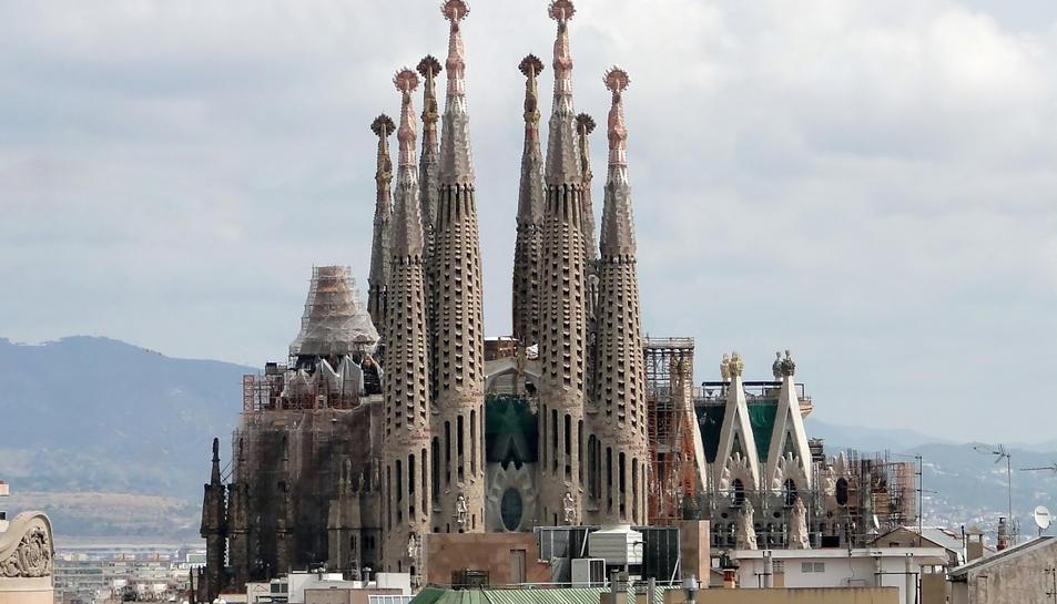 Imatge del temple de la Sagrada Família de BArcelona.