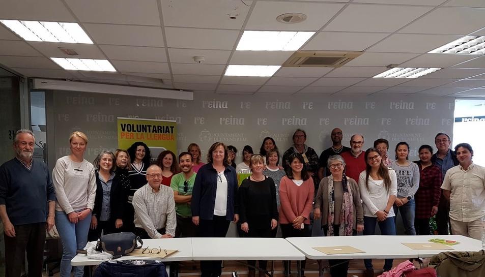 Imatge dels voluntaris.