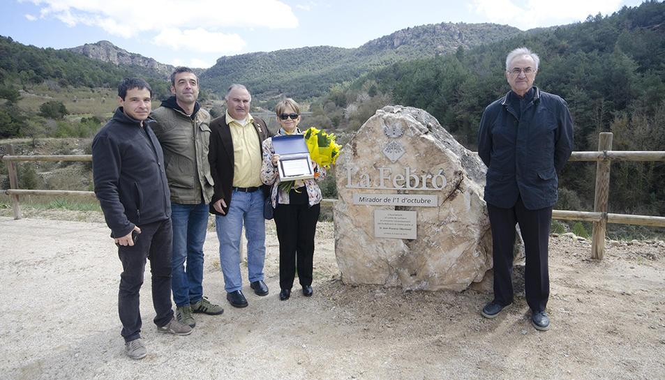 Durant la celebració es va inaugurar el mirador de l'1d'Octube, en record de Joan Prunera Martorell.