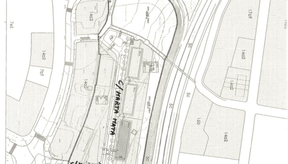 Plànol en què es mostren alguns dels nous carrers de Tarragona