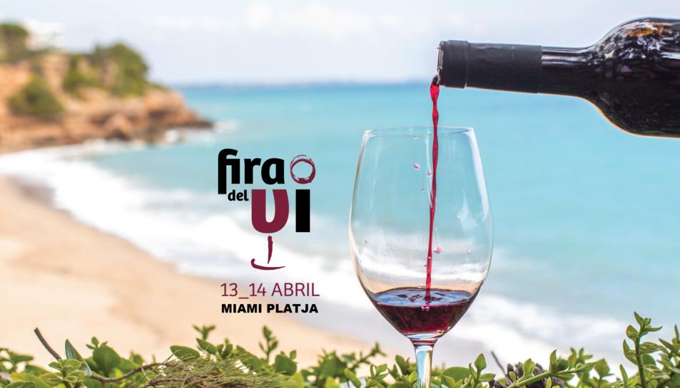 Cartell de la Fira del Vi de Miami Platja.