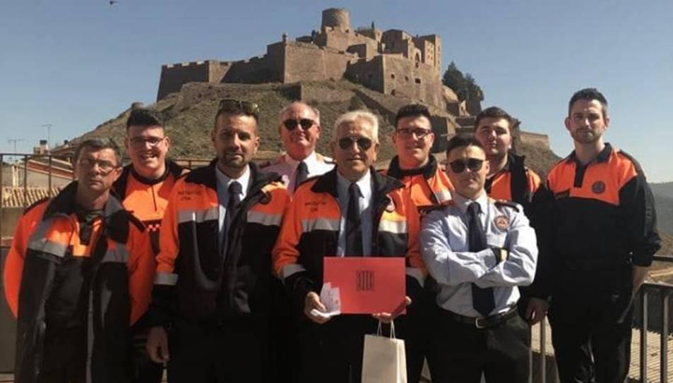 El reconeixement a l'entitat pobletana va tenir lloc en el marc del 7è Dia del Voluntariat de Protecció Civil de Catalunya.