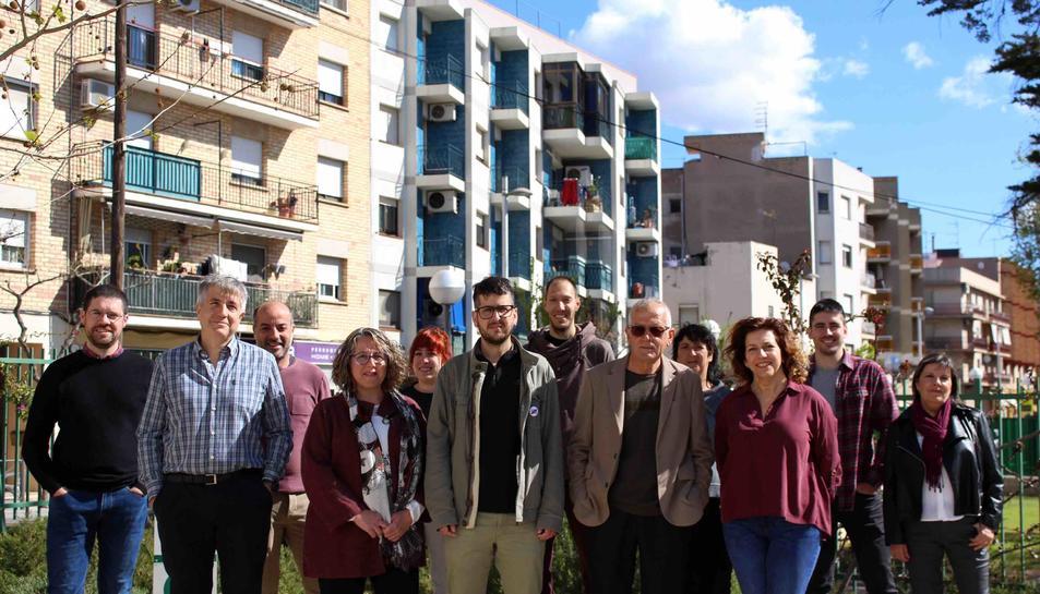 Imatge de la presentació de Som Poble per a les eleccions municipals a la Canonja.