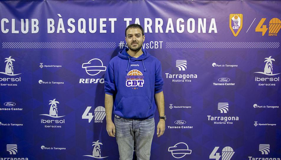 Nacho Ferrando és un dels responsables de la bona marxa del primer equip del Club Bàsquet Tarragona.