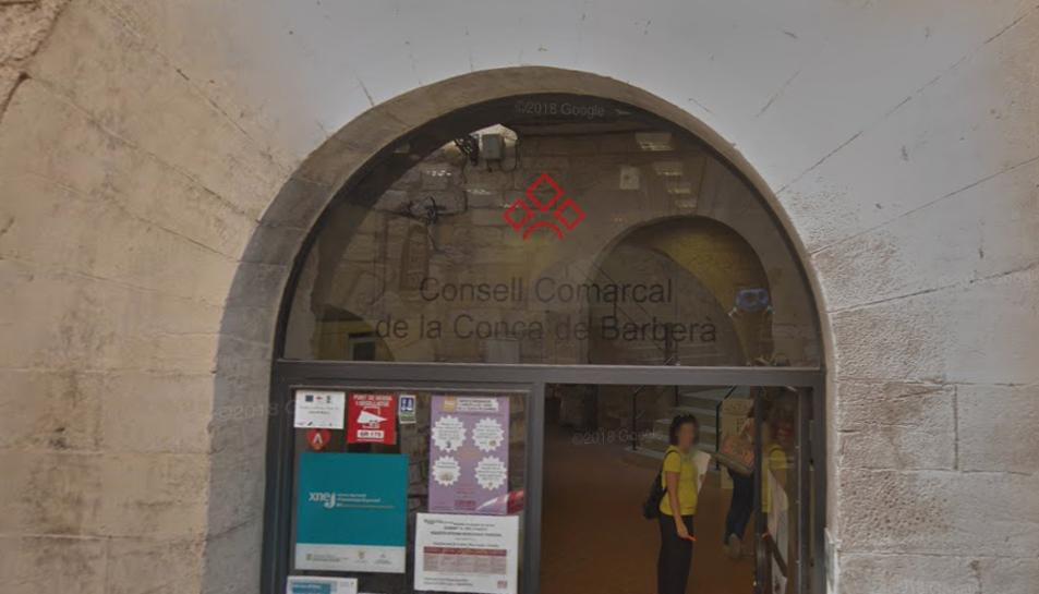 Imatge de la façana del Consell Comarcal de la Conca de Barberà.