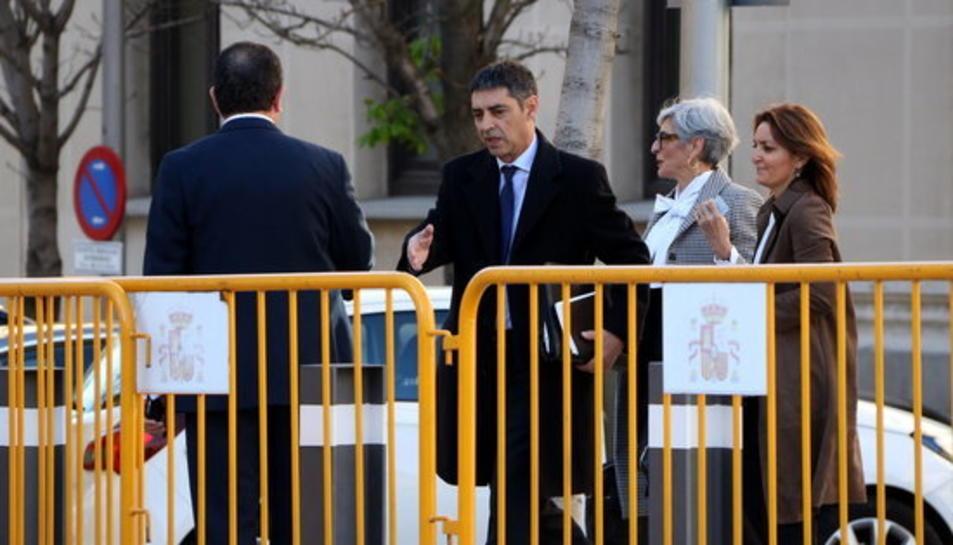 El major Trapero arribant al Tribunal Suprem el 14 de març del 2019.