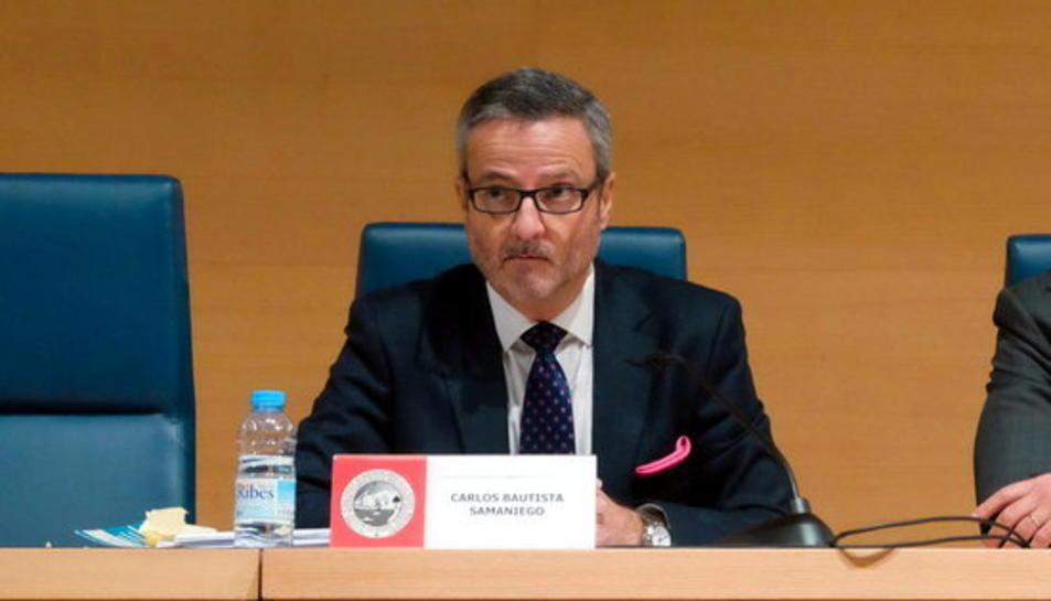 El fiscal de l'Audiència Nacional Carlos Bautista Samaniego, durant una conferència el novembre del 2018 al Col·legi d'Advocats de Balears.