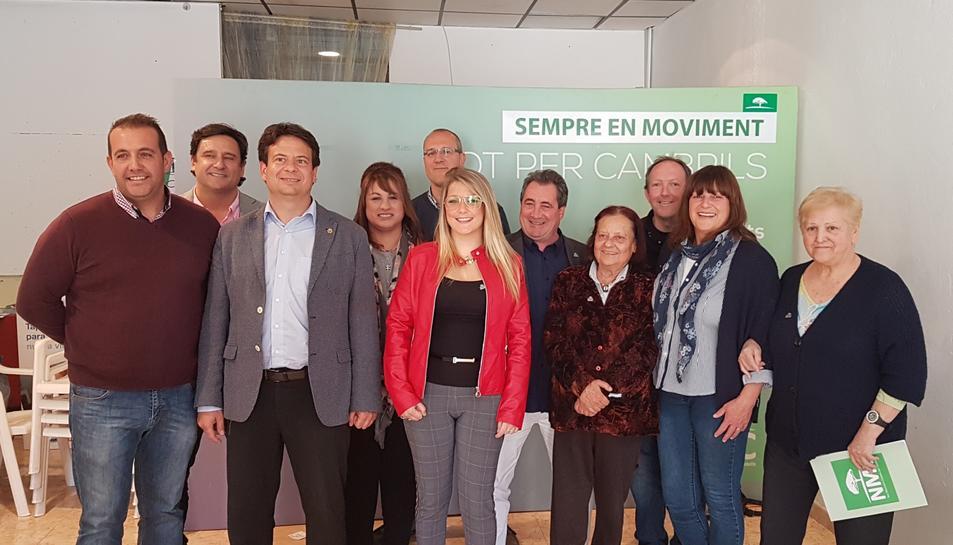 Imatge de l'acte de presentació dels deu primers integrants a la llista de Nou Moviment Ciutadà per Cambrils el 26-M.