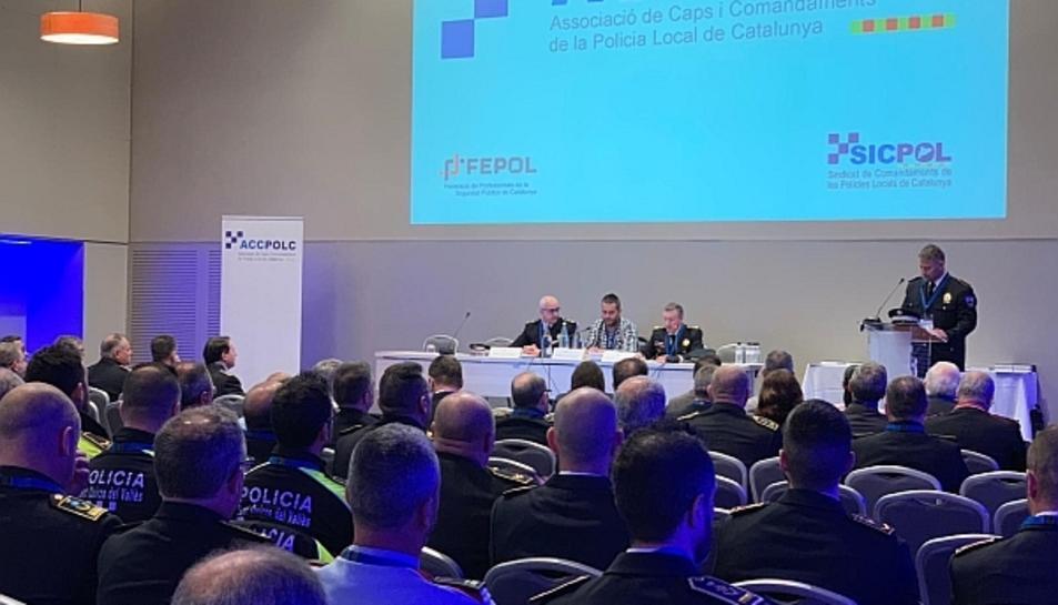 Imatge del congrés anual de l'Associació de Caps i Comandaments de la Policia Local de Catalunya.