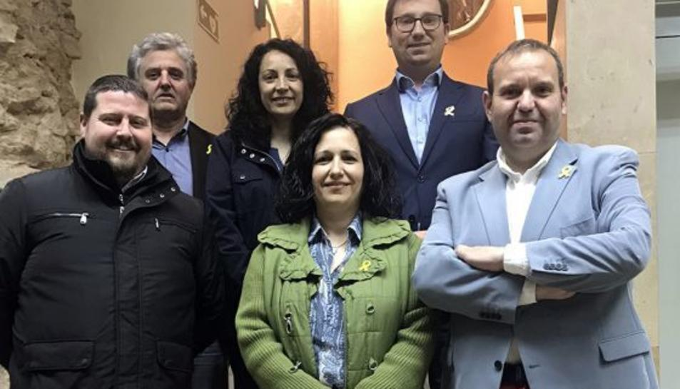 Josep Maria Franquès, a dalt a l'esquerra.