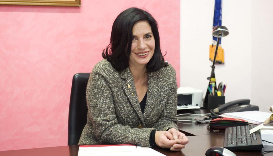 La regidora socialista Ana Santos, realitzada amb motiu d'una entrevista concedida a Diari Més.