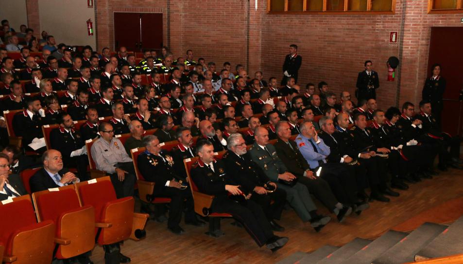 Els comandaments policials dels Mossos i d'altres cossos durant la celebració del Dia de les Esquadres a les Terres de l'Ebre.