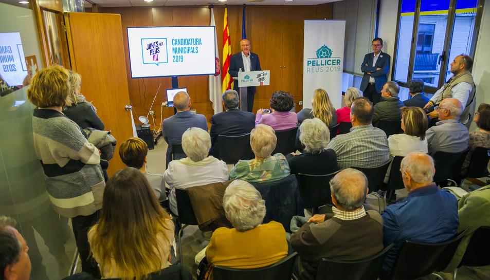 El candidat de Junts per Reus, Carles Pellicer.