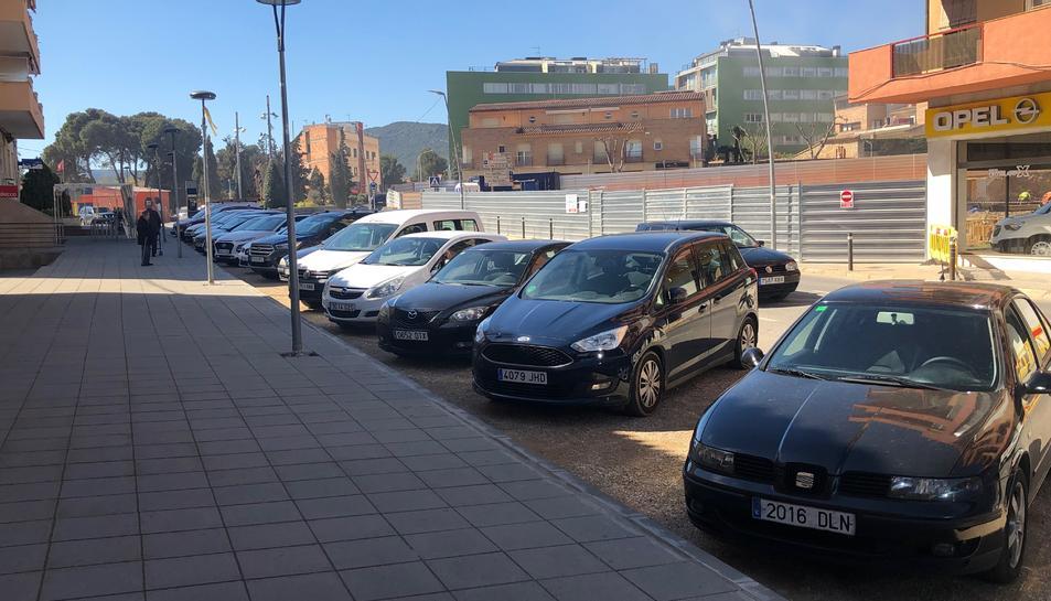 Imatge de les noves places d'aparcament.