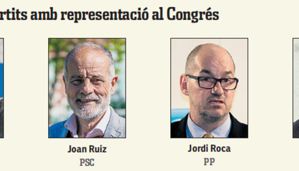 Candidats de Tarragona dels partits amb representació al Congrés.