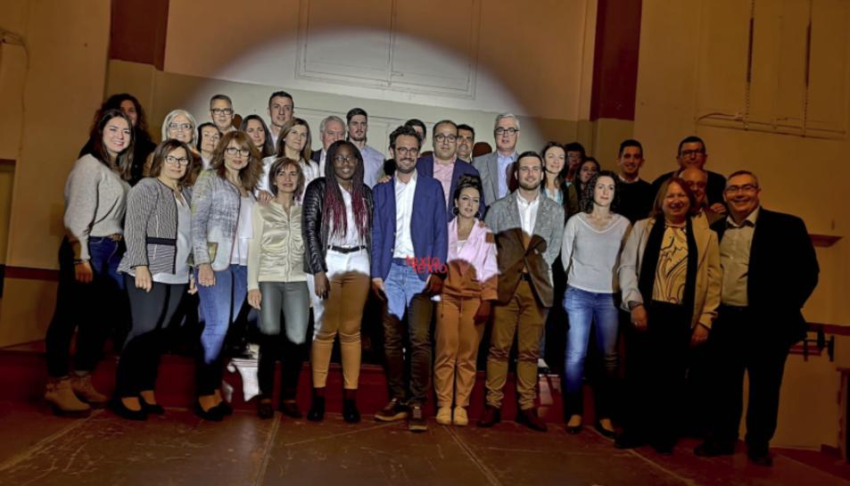 Imatge de la presentació de la candidatura que encapçalarà Pere Segura.