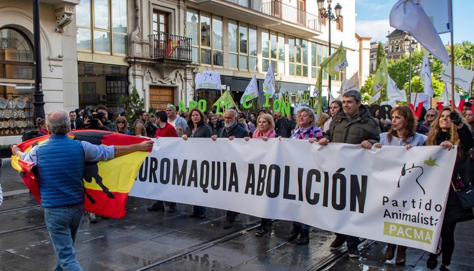 Imatge d'una manifestació antitaurina a Sevilla.