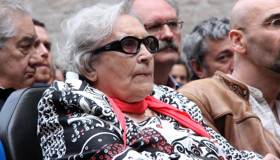 Neus Català, supervivent catalana del camp de concentració nazi de Ravensbrück, en una imatge de l'any 2010.