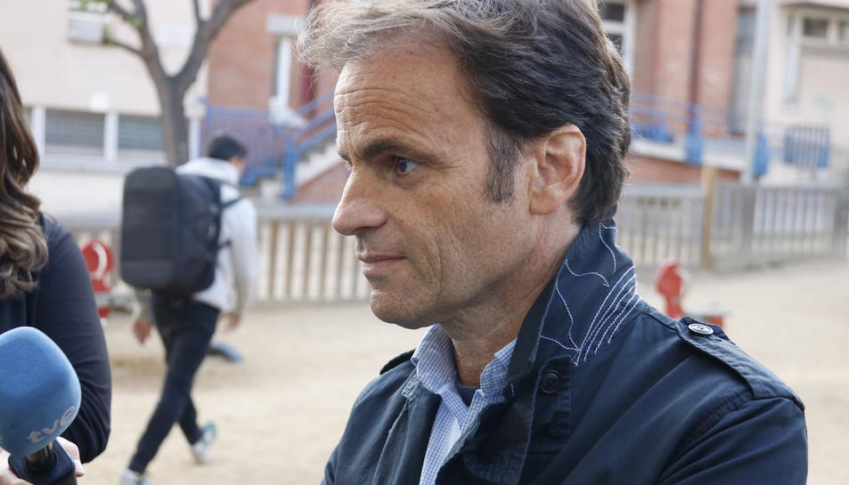 Pla curt del candidat dels comuns, Jaume Asens.